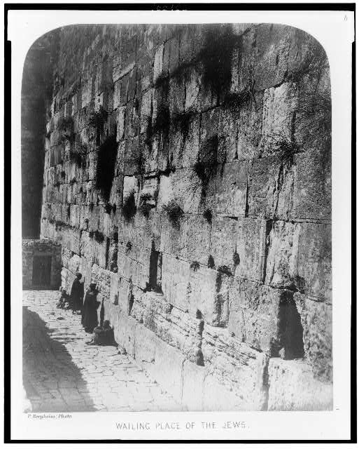 Exterior of the Haram-Ash-Shárif. Wailing place of the Jews