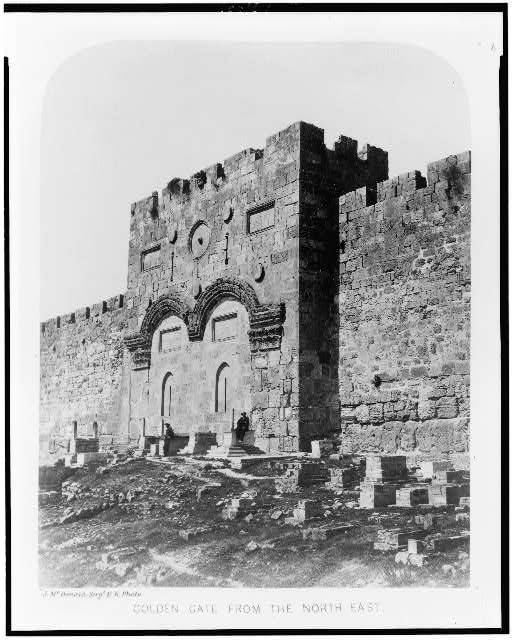 Exterior of the Haram-Ash-Shárif. Golden Gate from the North East