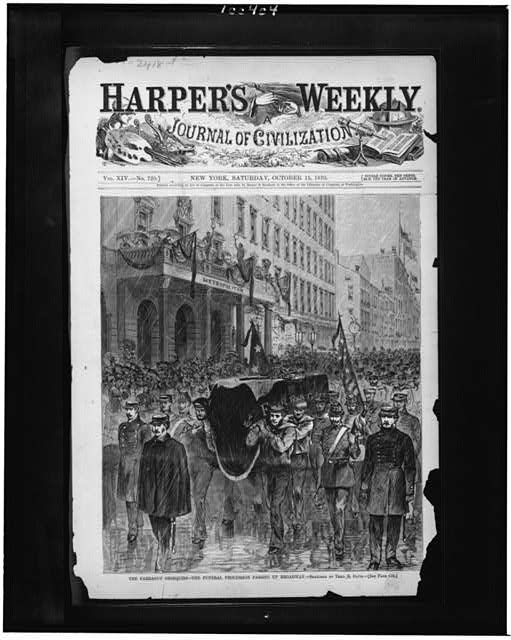 The Farragut obsequies--the funeral procession passing up Broadway