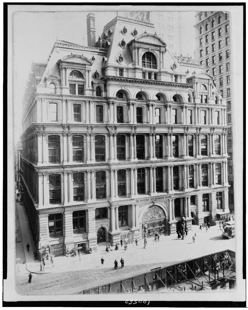 life assurance building ca 1906 headquarters of the equitable life ...