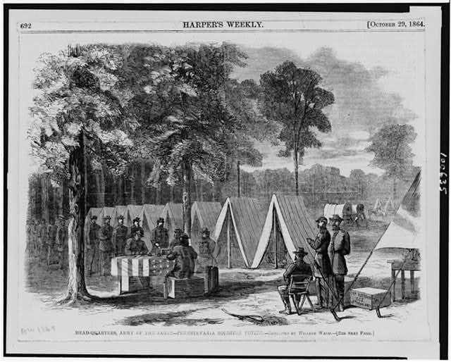 Head-quarters, Army of the James--Pennsylvania soldiers voting