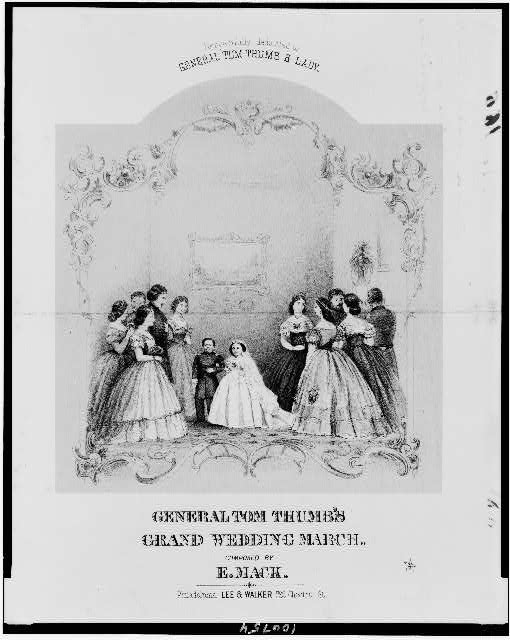 General Tom Thumb's grand wedding march, composed by E. Mack. Respectfully dedicated to General Tom Thumb & lady