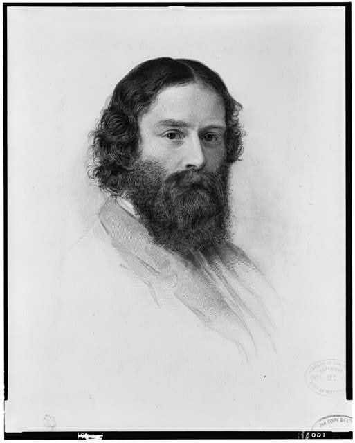 [James Russell Lowell, head-and-shoulders portrait, facing right]