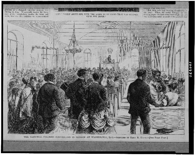 The National Colored Convention in session at Washington, D.C.