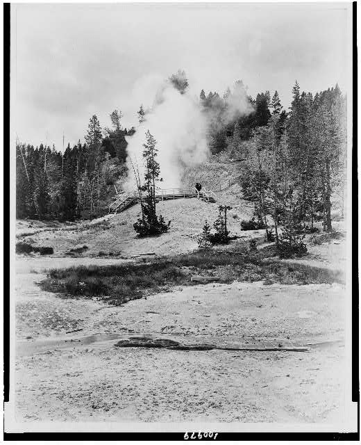 [Mud volcano, Yellowstone National Park, reached by the Northern Pacific Railway via Gardiner Gateway]