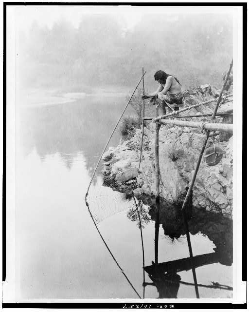 Fishing from a platform