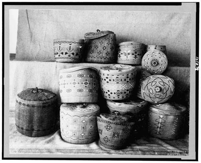 [Aleutian baskets and Eskimo baskets]