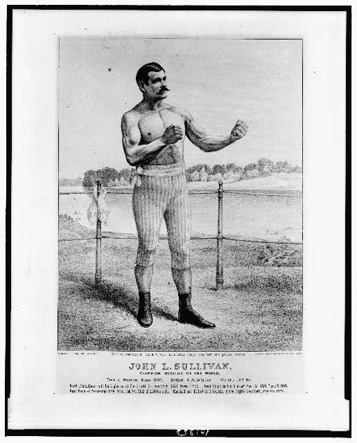 John L. Sullivan, champion pugilist of the world