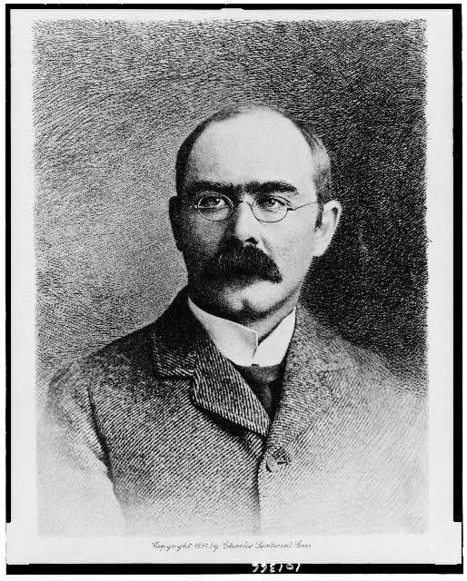 [Rudyard Kipling, head-and-shoulders portrait, facing slightly left]