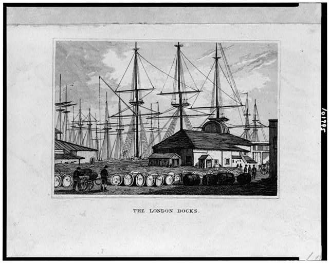 The London docks