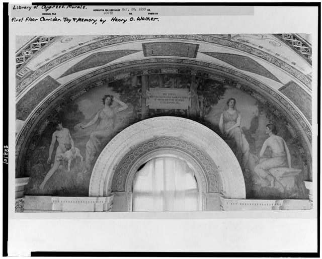 [Mural, Joy and Memory, by Henry O. Walker, in the Jefferson Building, Library of Congress]