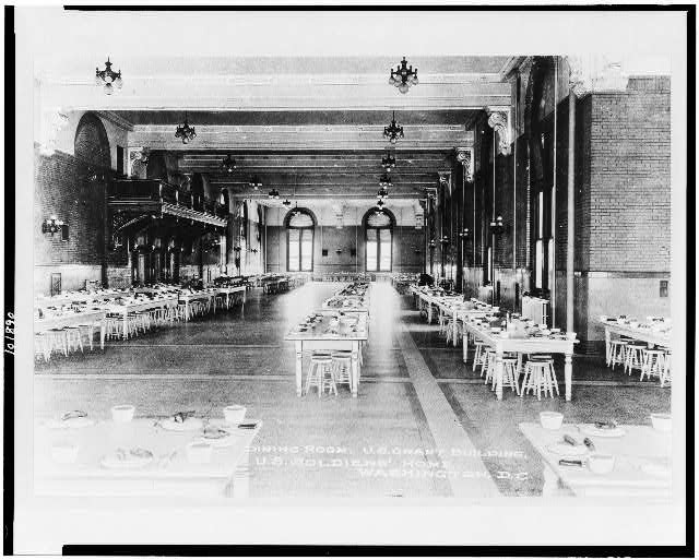 Dining room, U.S. Grant Building, U.S. Soldiers' Home, Washington, D.C.