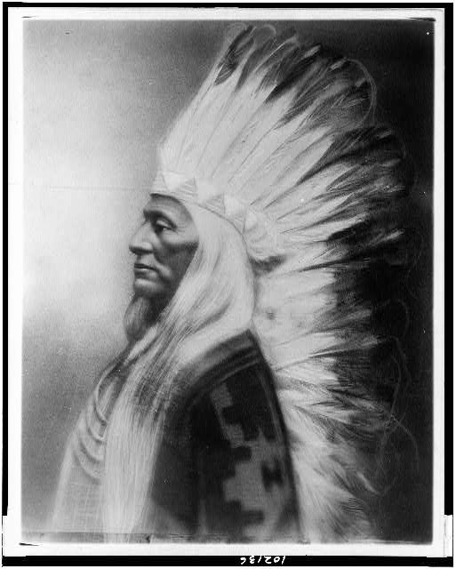 [Washakie, Chief of Shoshones, half-length portrait, facing left]