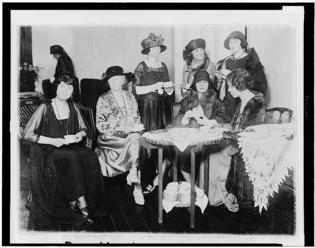 Reception tea at the National Womens [i.e., Woman&#39;s] Party to Alice Brady, famous film star and one of the organizers of the party