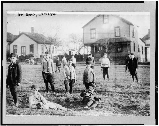 [Boys' gang, Cleveland, Ohio]