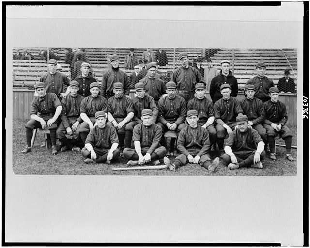 [Rochester baseball team posed on field]