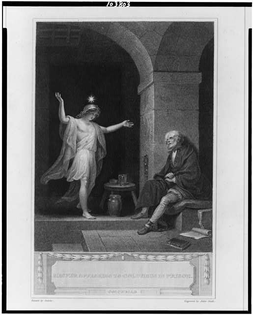 Hesper appearing to Columbus in prison