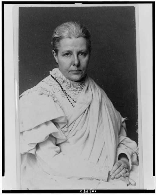 [Annie Besant, half-length portrait, seated, facing slightly right]