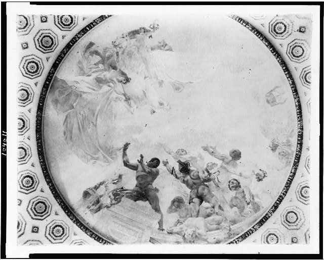 [Mural by George W. Maynard on ceiling in the Library of Congress, Washington, D.C.]