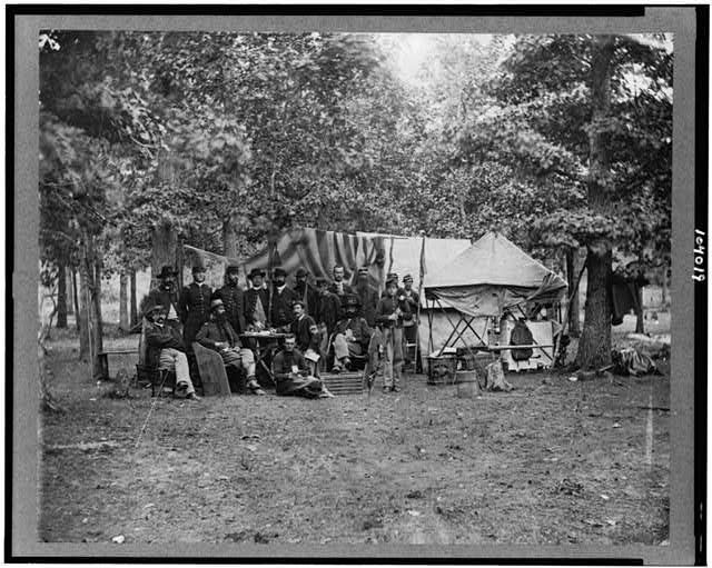 [Regimental staff, New York Volunteers, near Bealton [i.e., Bealeton] , Va.]