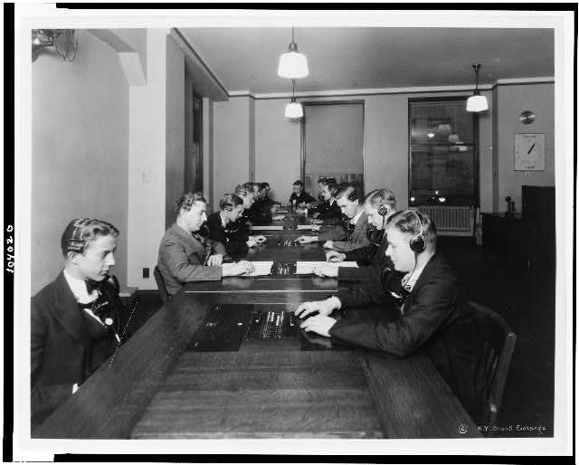 [New quotation room, New York Stock Exchange]