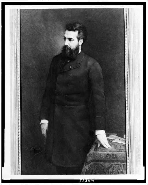 [Alexander Graham Bell, three-quarter length portrait, standing, facing left]