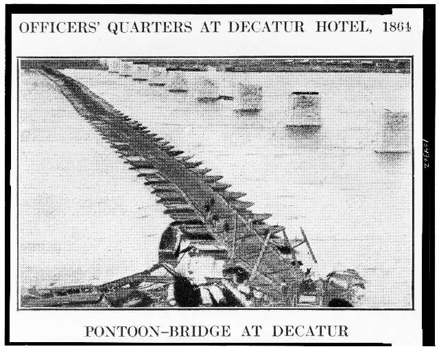 Pontoon bridge at Decatur
