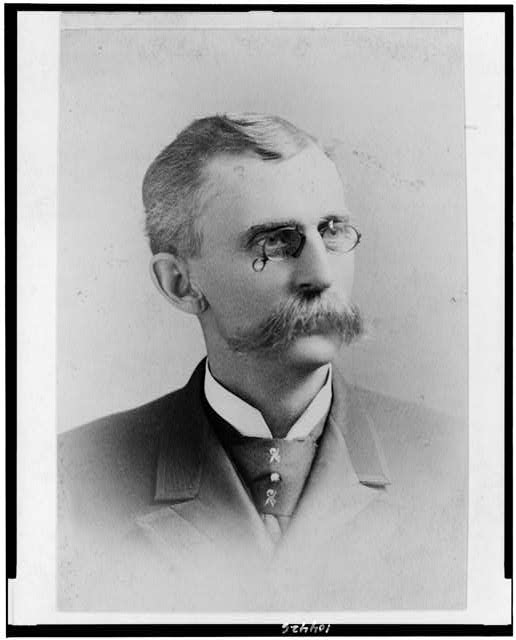 [James Nelson Huston, head-and-shoulders portrait, facing right]