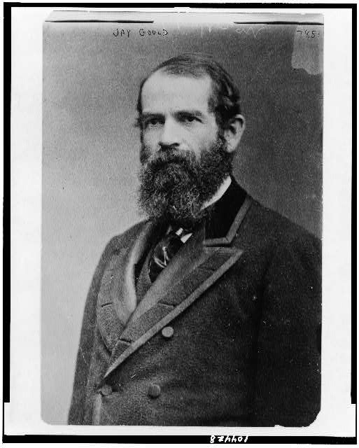 [Jay Gould, half-length portrait, facing left]