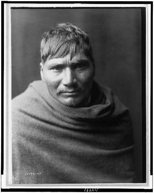 [Yaqui man, head-and-shoulders portrait, facing front]