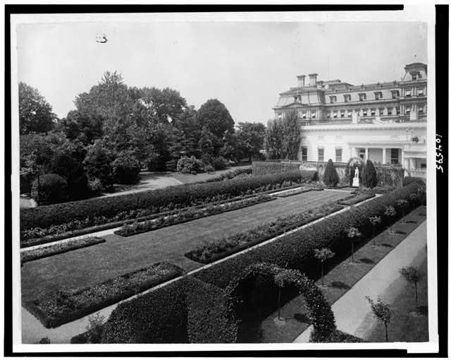 White House, West Colonial Garden [i.e. Southwest rose garden, which replaced the West Colonial Garden]