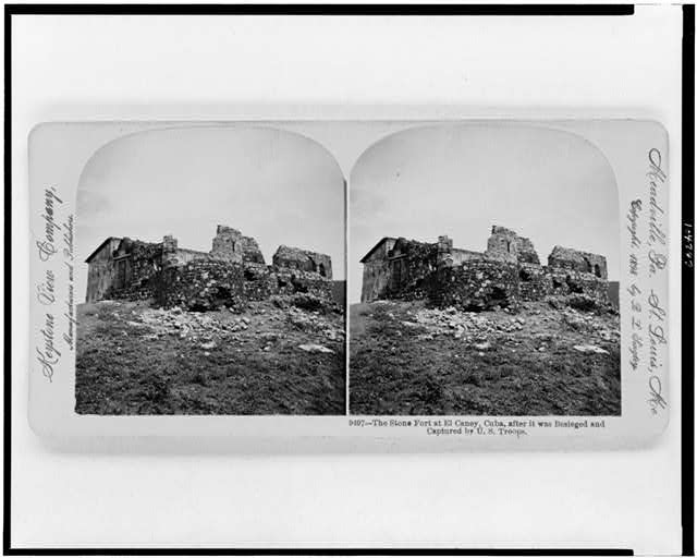 The Stone fort at El Caney, Cuba, after it was besieged and captured by U.S. troops