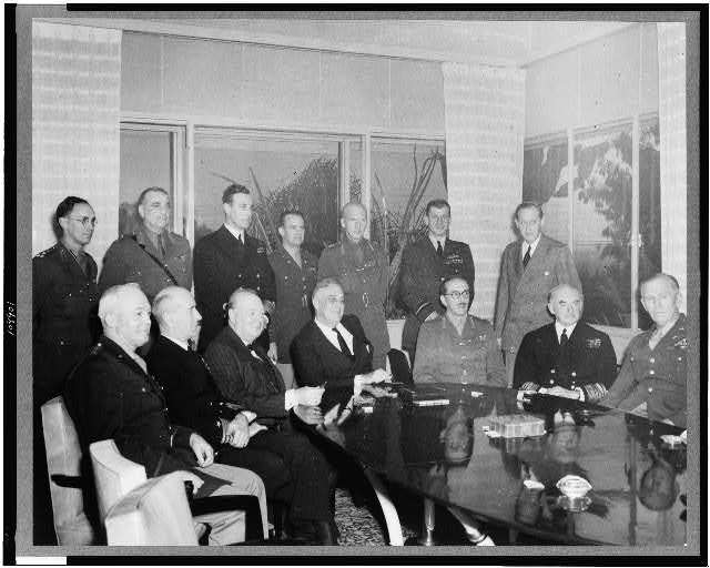 American and British military leaders at the Casablanca conference, Casablanca, Morocco