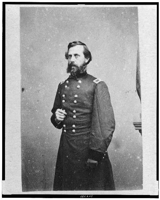 [Jefferson Davis, three-quarter length portrait, standing, facing left]