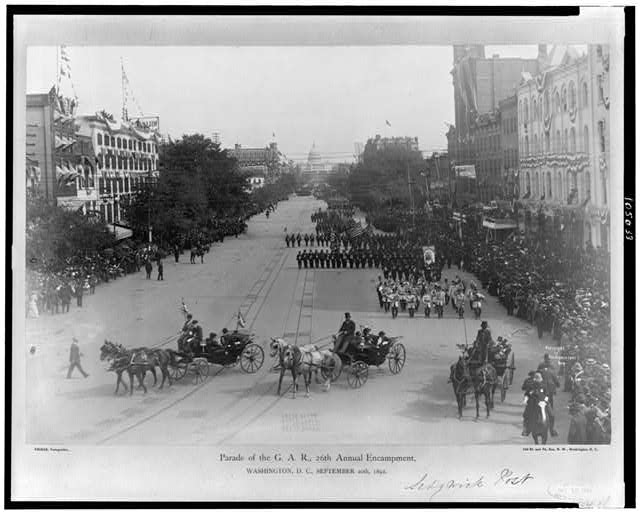 Parade of the G.A.R., 26th annual encampment, Washington, D.C., September 20th, 1892