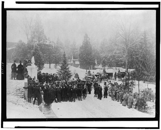 [John Alexander Logan's funeral at Hutchinson's vault, Washington, D.C.]
