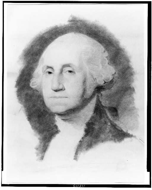 [George Washington, head-and-shoulders portrait, facing left]
