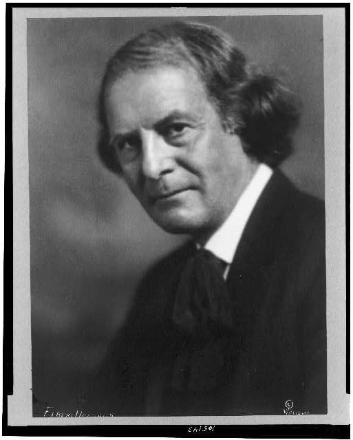 [Elbert Hubbard, head-and-shoulders portrait, facing left]