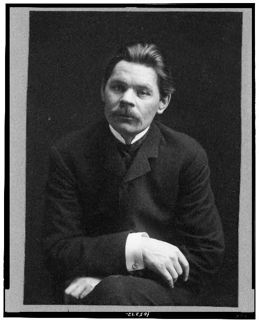 [Maxim Gorky, three-quarter length portrait, seated, facing slightly left]