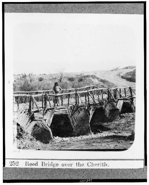 Reed bridge over the Cherith