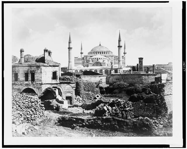 Constantinople. Mosque of St. Sophia