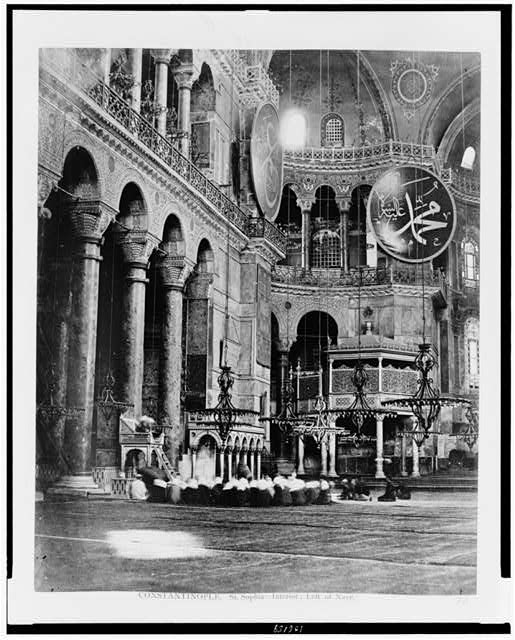 Constantinople. St. Sophia--interior, left of nave