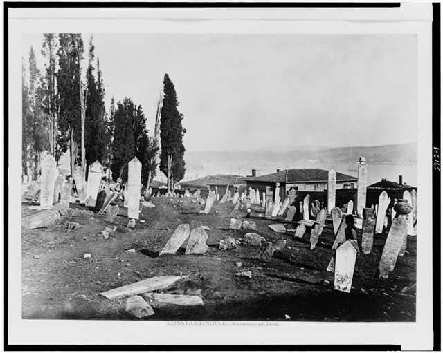 Constantinople. Cemetery of Pera