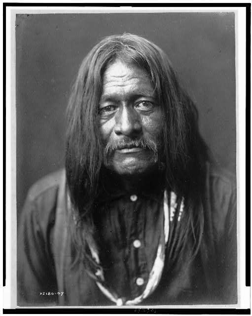 [Hoo-Man-Hai, Maricopa Indian, head-and-shoulders portrait, facing front]