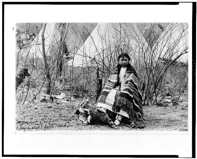 Minnie Chips, a Cheyenne belle Indian school girl