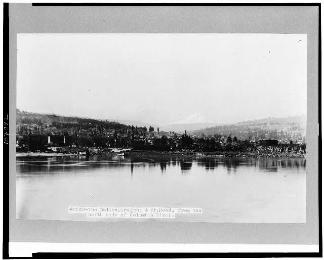 [The Dalles and Mt. Hood from the north side of the Columbia River]