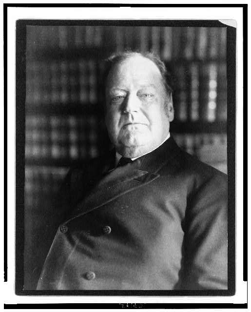 [Edward D. White, Associate Justice Supreme Court, head-and-shoulders portrait, facing slightly left]