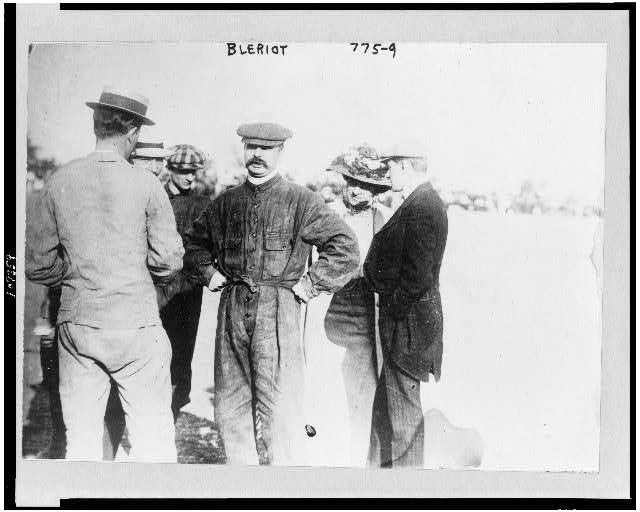 [Louis Blériot, three-quarter length, facing slightly left, with five other people]