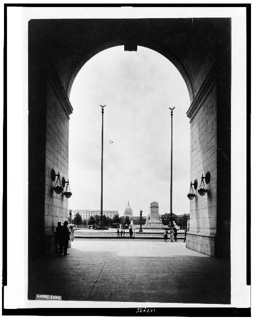 [View from arch of Union Station, Washington, D.C.]