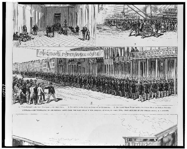 Louisiana--the withdrawal of the federal troops from the State House in New Orleans, at noon, on April 24th